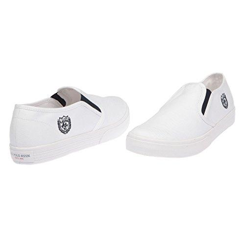 U.S. POLO Damenschuhe ohne Schnürsenkel Sneaker Style - mod. GALAD4185S7-CY1 Weiß