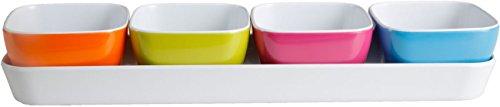 Brunner Appetizer ciottoline für Aperitif aus hochwertigem Melamin mit Tablett
