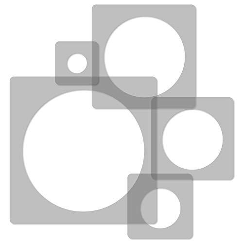5 Stück wiederverwendbare Kunststoff-Schablonen // KREIS PUNKT // 34x34cm bis 9x9cm // Kinderzimmer-Dekorarion // Kinderzimmer-Vorlage Kreise