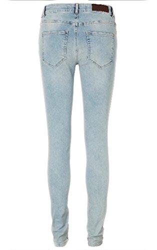 VERO MODA Damen Jeanshose Vmseven Nw Su.sl Knee D Jeans Ct198 Noos Light Blue