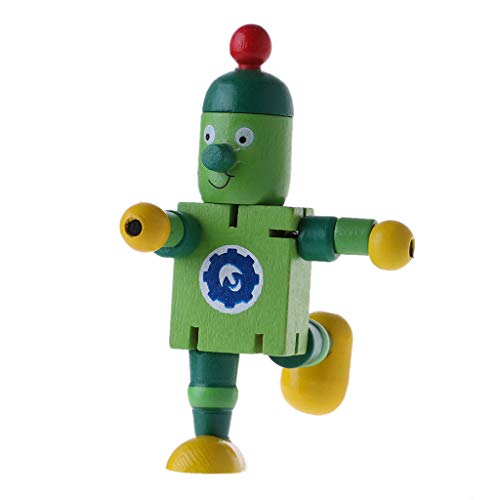 Kalttoy New 6stili cute robot Wooden Block Toys Baby Action Figure cute Model Toy