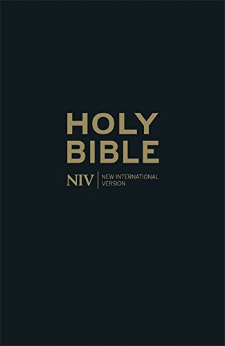 NIV Thinline Black Leather Bible (New International Version)