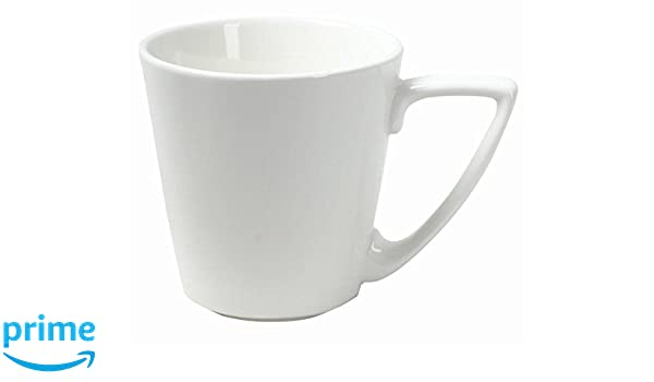 Porzellan 8.5 cm Wei/ß Dajar Tasse Welle//Kubiko 220 ml