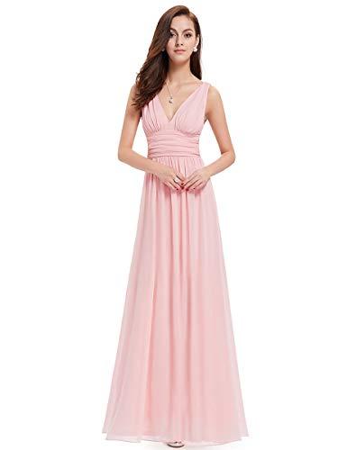 Ever-Pretty V-Col Longue Robe de Cocktail 40 Rose Clair