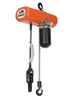 CM Hoist 9514/9561/93 Lodestar Electric Chain Hoist, 3 Ton, 2-Speed, 10 Lift, 3.5/11 FPM, Lug mount, 460-3-60, 3 reeve