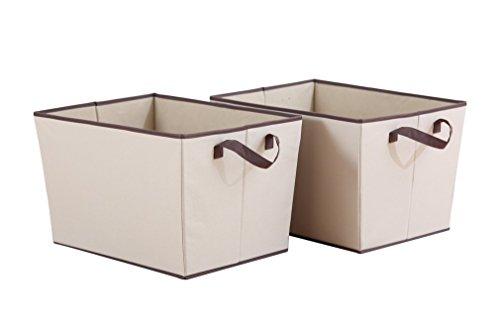 StorageManiac Set de 2 cestas de almacenamiento con asas, perfectas para almacenar ropa y accesorios, de 38 x 51 x 31.8 cm