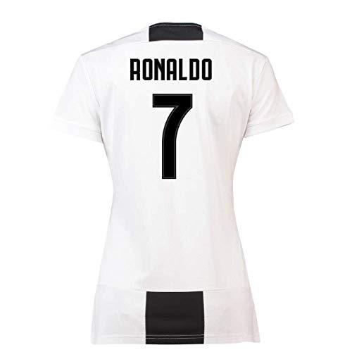 2018-19 Juventus Womens Home Football Soccer T-Shirt Maglia (Cristiano Ronaldo 7)