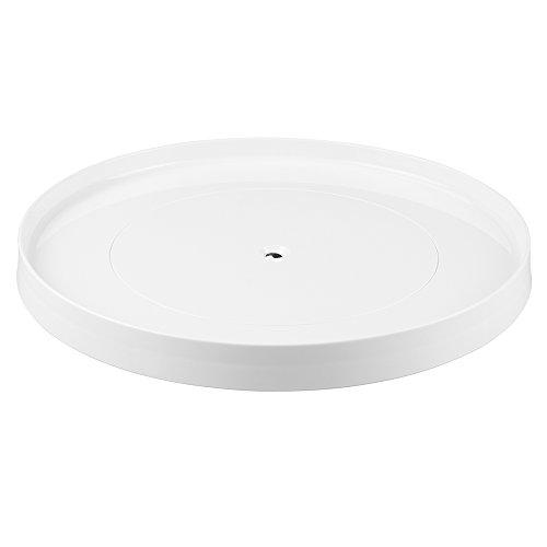 iDesign 54731EU Linus Drehteller/Küchenablage/Tisch Drehbarer Organizer, 35, 56 cm, weiß,