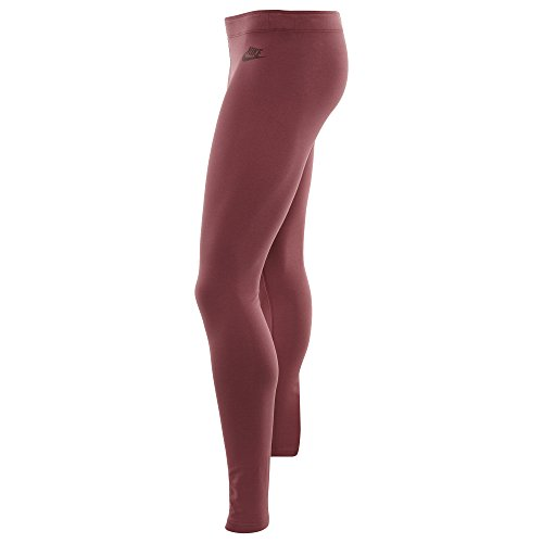Nike W NSW Leg A See lggng JDI–Pantaloni da Donna Portwein rot/Dunkel Team rot
