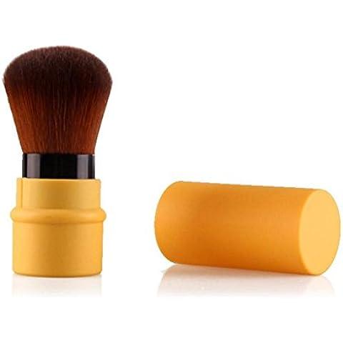 Malloom Spazzola Cosmetica Trucco Strumenti Bellezza Retrattile Brush Viaggi Facile Da Trasportare Fuori (giallo)