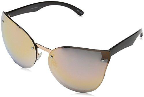 Quay Eyewear Damen Sonnenbrille HIGHER LOVE, Gr. One size, Schwarz (ROSE/ROSE MIRROR)