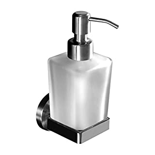 Ambrosya | Exclusive soap dispenser made of stainless steel | Bathroom Glass Holder Bracket Soap Holder Soap Dish Dispenser Toilet (Stainless Steel (Brushed))