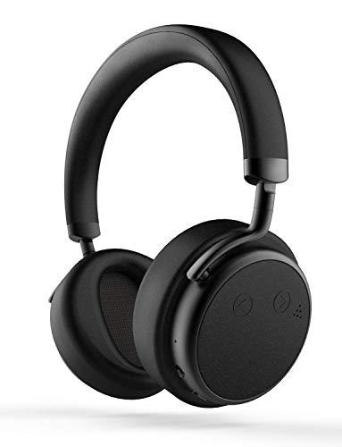 XSOUND H5D Noise Cancelling Bluetooth Kopfhörer mit 50mm Treiber Sound Tiefbass Drahtlose mit Mikrofon Protein-Ohrpolster, 20 St. Spielzeit für TV PC Handy, Schwarz - Bluetooth-sound-cancelling