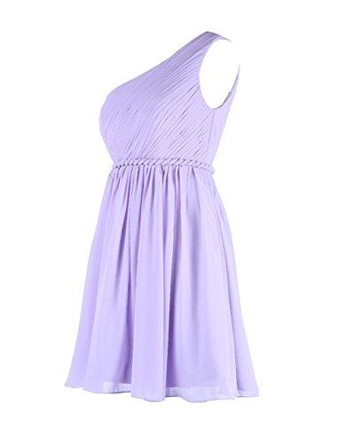 YiYaDawn Kurzes Brautjungfernkleid Cocktailkleid One-Shoulder Kleid für Damen Mintgrün