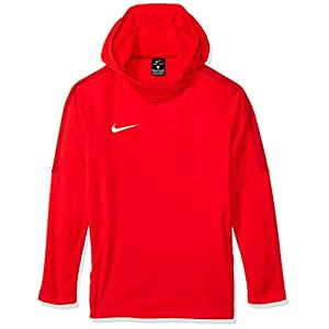 Nike Jungen Dry Academy18 Football Hoodie Pullover,Rot (university red/gym red/gym red/(white), XL