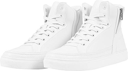 Urban Classics Unisex-Erwachsene Zipper High Top Shoe White