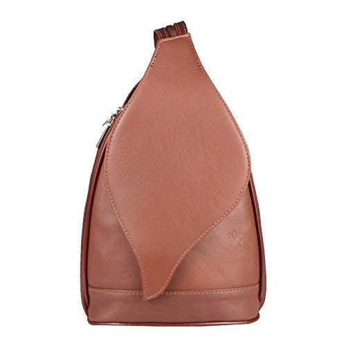 947b31156e2219 OBC Made in Italy Damen echt Leder Rucksack Lederrucksack Tasche  Schultertasche Ledertasche.