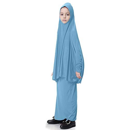 Amphia - Muslimischen Mädchen Fledermaus Hülse Robe Kleid Anzug,Kleinkind Kind Kind muslimische Mädchen Fledermaus Ärmel Bluse Top Langen Rock Outfits ()