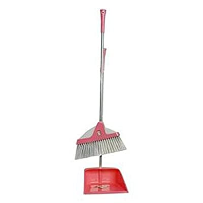 Alien Storehouse Durable Removable Broom und Dustpan Standing Upright Griffe Sweep Set mit Langem Griff, C9