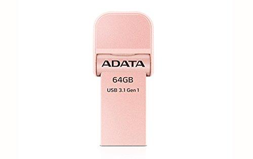 ADATA AI920 64GB i-Memory Lightning/USB 3.1 Speicherstick für iPhone, iPod, iPad, iOS-Geräte, Apple MFi zertifiziert, Rotgold (AAI920-64G-CRG)
