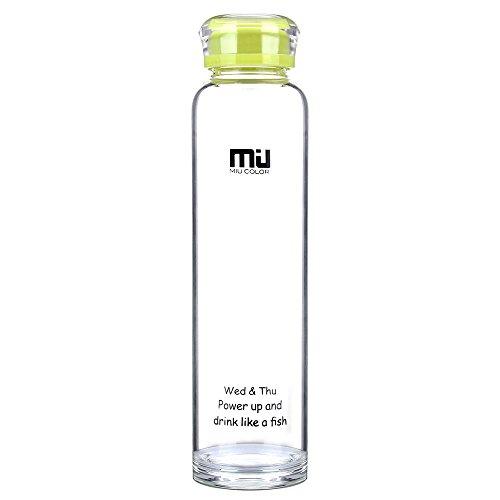 Botella de vidrio de frutas ecológica de 480 ml, de bisfenol A, polic