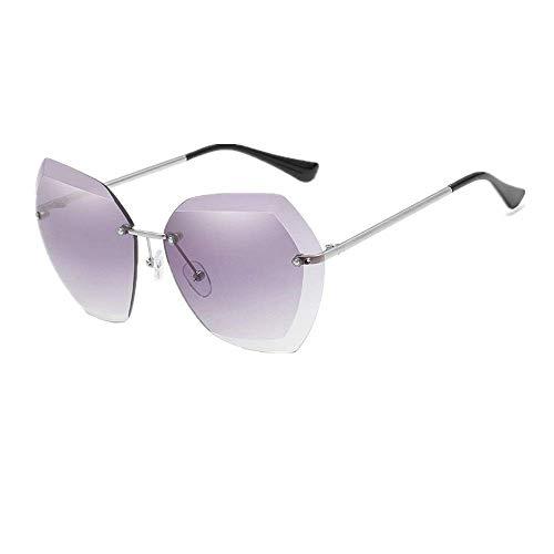XHCP Frauen polarisierte Klassische Flieger-Sonnenbrille, Sonnenbrille der Frauen Metallrahmen-Schutz im Freien UV400 Gläser für Damen (Farbe: Grau, Größe: Freie Größe)