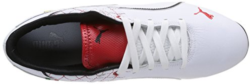 Puma - Drift Cat 6 Sf Flash, sneakers da unisex adulto Bianco (Weiß (white-rosso corsa 03))