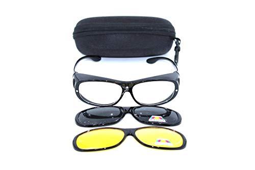 Clever & Chic Accessoires Überbrille - magnetische Überziehbrille 2 in 1 schwarz