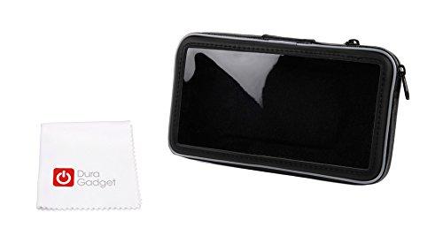 Fahrradlenker-Halterung mit kapazitiver Schutz-Case + Mikrofasertuch für Alcatel A3 XL | ZTE Blade V8 Pro | HTC One X10 | Asus Zenfone AR + 3 Zoom | Polaroid Power P600SL| HTC U Ultra | Vivo V5 Plus Smartphone