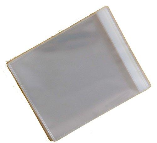 Celloexpress Zellophan-Hüllen zur Aufbewahrung von Grußkarten, selbstklebend, 0,03 mm, für mittelgroße quadratische Grußkarten, 145 mm x 140 mm, 30 mm Lasche, 250er-Packung (Kleine Karte ärmel)