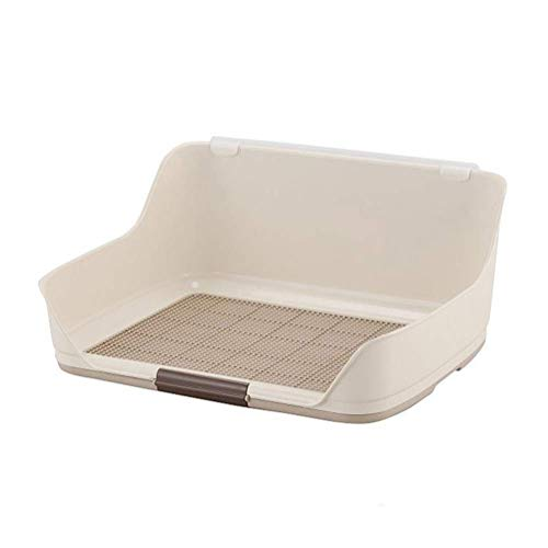 AYha Pet Supplies Cani e toilette Gatti, Inner Dressing carrello portatile Barrier Splash,bianca,Piccolo