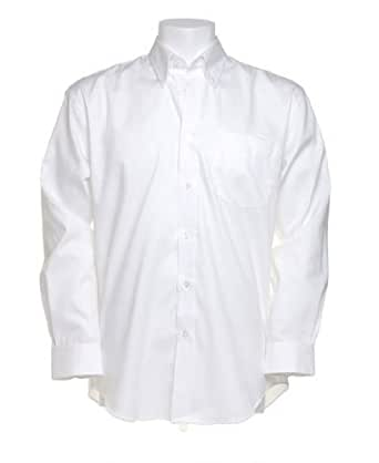 Kustom Kit KK105 Mens Corporate Oxford Long Sleeve Shirt White 14.5