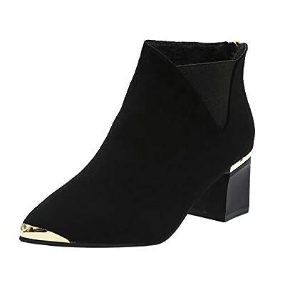 Sannysis Stiefeletten Damen Elegant Frauen Stiefel High Heels Damen Stiefeletten Spitz Stiefel Winterschuhe Schuhe mit hohen Absaetzen