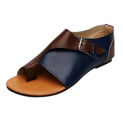 Darringls Sandalias para Mujer, Moda Sandalias de Plataformas Mujeres Cómodo Sandalias con Punta Abierta Zapatos de Viaje Verano Playa Calzado Flip Flops Nuevas (Leopardo/Color sólido)