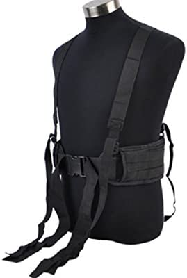 Tactical Cummerbund militar cintura rellenado con H-shaped Suspender deber Web interior