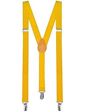 1 Tirantes Elásticos Ajustable Para Pantalones Y-diseño Clip hombre mujer niño amarillo