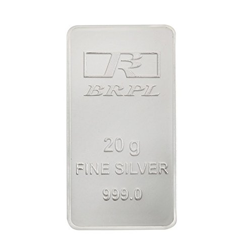 Bangalore Refinery 999 Purity Silver Bar 20 Gram