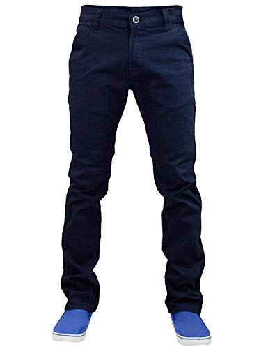 Jack south nuovo uomo designer stretch slim fit chino pantaloni a gamba dritta pantaloni marina militare 40 regular