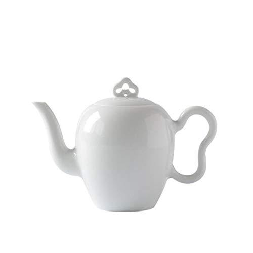 Fait à La Main - Porcelaine Blanche - Théière Minimaliste