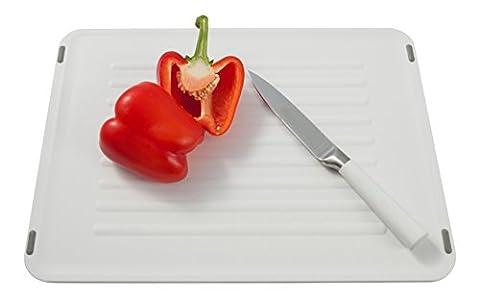 Planche à découper / planche à hacher/ Coninx Duce - blanc - Plateau à fromage en plastique - 270 x 375 x 8 mm - résiste au lave-vaisselle