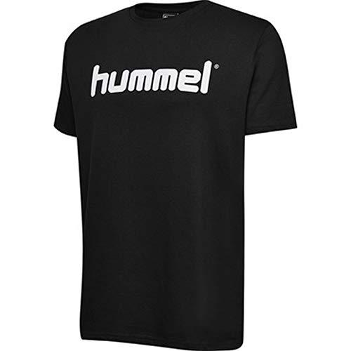 Hummel Kinder HMLGO KIDS COTTON LOGO T-shirts, Schwarz, 176