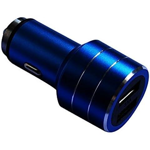 Martelletto salvavita, caricatore per auto da 3.5A fornito da OXA, 2 porte smart USB da 2.4A, caricatore per accendisigari in auto, caricatore per iPhone, iPad, iPod, Samsung Galaxy, scatola nera auto, dispositivi Android, smartphone (Argento, 2 USB)