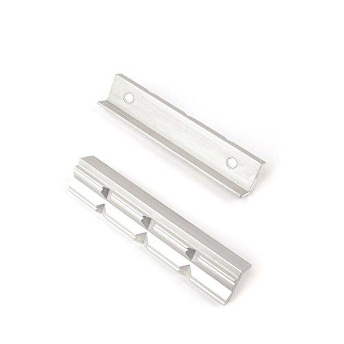 Preisvergleich Produktbild GSR Schonbacken für Schraubstock, Schutzbacken für Schraubstock 125mm Alu/Prismen mit Magnet Spann-Backen