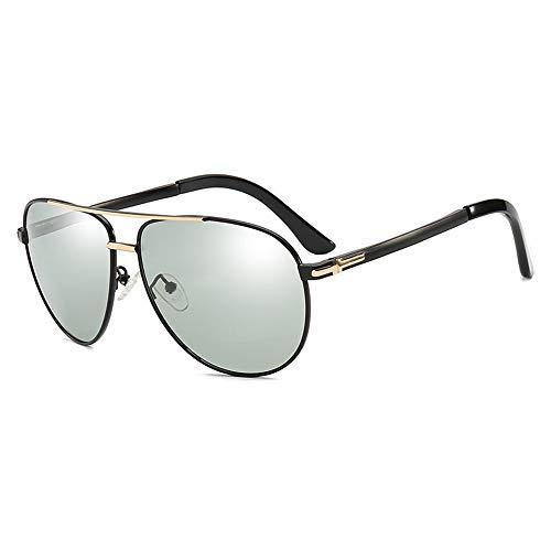 Sonnenbrillen Unisex-UV-Brillen, UV400-Objektiv-Sonnenbrillen für Damen Damen Fashionwear Pop Sun Eye Glas Outdoor, Fahren, Angeln (Farbe : Gold)
