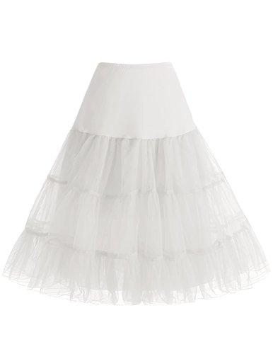 bbonlinedress Organza 50s Vintage Rockabilly Petticoat Underskirt Ivory -