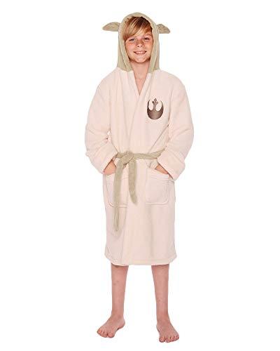 Kostüm Jungen Yoda - Star Wars Yoda Bademantel beige/grün L (10-12 Jahre)