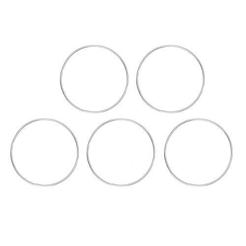 Vosarea 10 Stücke DIY Dreamcatcher Runde Metall Hoop Ring Handgemachtes Zubehör für Geschenk Dekor (10 cm) -