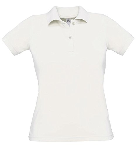 B&C - Polo -  - Manches courtes Femme Blanc - Blanc