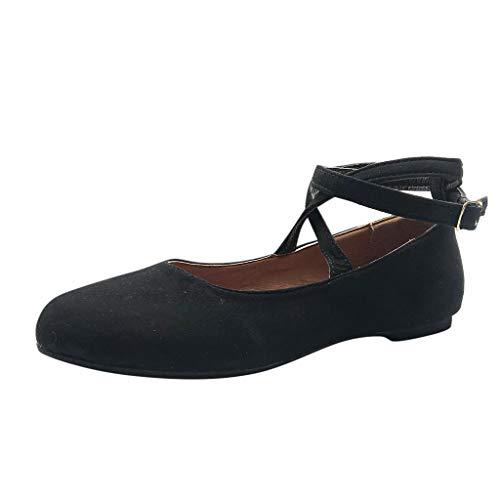 Vovotrade Damen römische runde Kopfbandschnalle einzelne Schuhe Sandalen Wohnungen lässige Mode Temperament