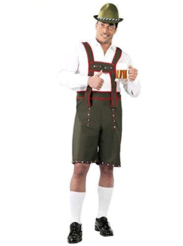 Guirca- costume da tirolese classico festa della birra, colore verde, large, 80782